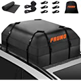 FRUNO 2021 Upgraded Waterproof Heavy Duty Soft-Shell Vehicle Rooftop Cargo Carrier Bag for Car with/Without Roof Top…