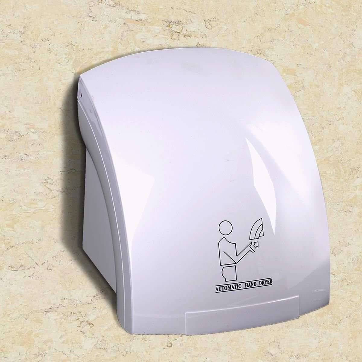 Household Hotel Automatic Infrared Sensor 1200 watt 110 volt Hand Dryer Bathroom Hands Drying Device Shockproof Strengthened Casing Easy Installation And Operatation Wall Outlet generic