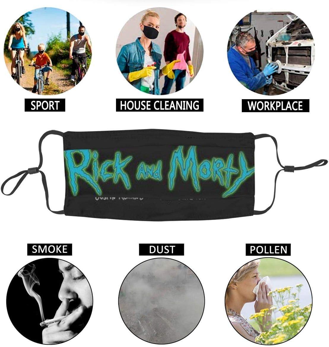 Sonickingmall Unisex Rick And Morty m/áscara facial cubierta pasamonta/ñas a prueba de polvo pa/ñuelo para polvo viento
