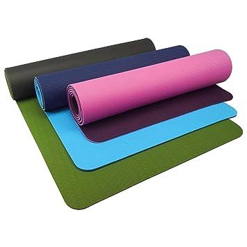 UFE - Esterilla de Yoga de 2 Capas (6 mm, TPE, 183 x 61 cm ...