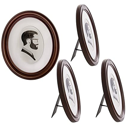 Amazon.com - Uniek 4 Pack Oval Picture Frame Set For Wall, Matted To ...