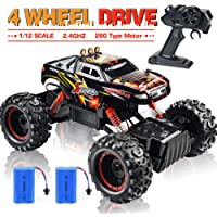 NQD Remote Control Truck, RC Car 1: 12 Scale RC Truck 2.4Ghz Radio Remote Control Car 4WD Off Road for Boys
