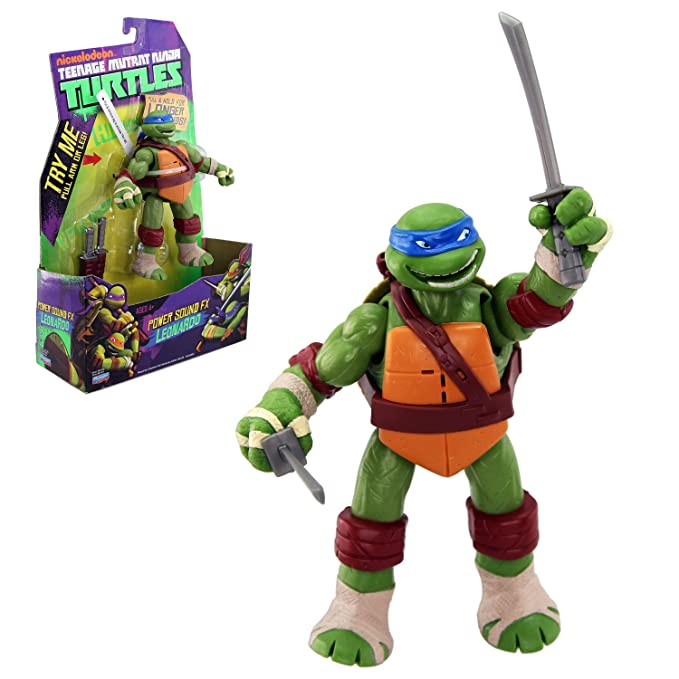 Teenage Mutant Ninja Turtles Power Sound FX Leonardo Figura De Acción