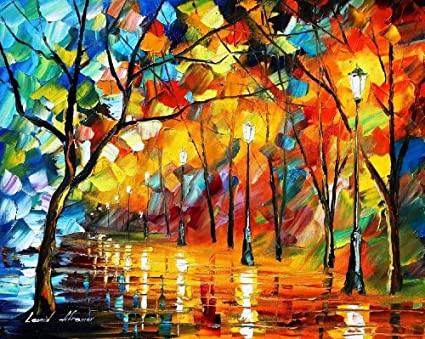 Amazon Com Wall Art For Sale Bright Oil Painting On Canvas