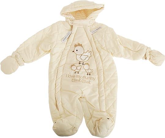 Pink Newborn Nursery Time Baby Boys//Girls Sweet As Honey All In One Hooded Winter Snowsuit