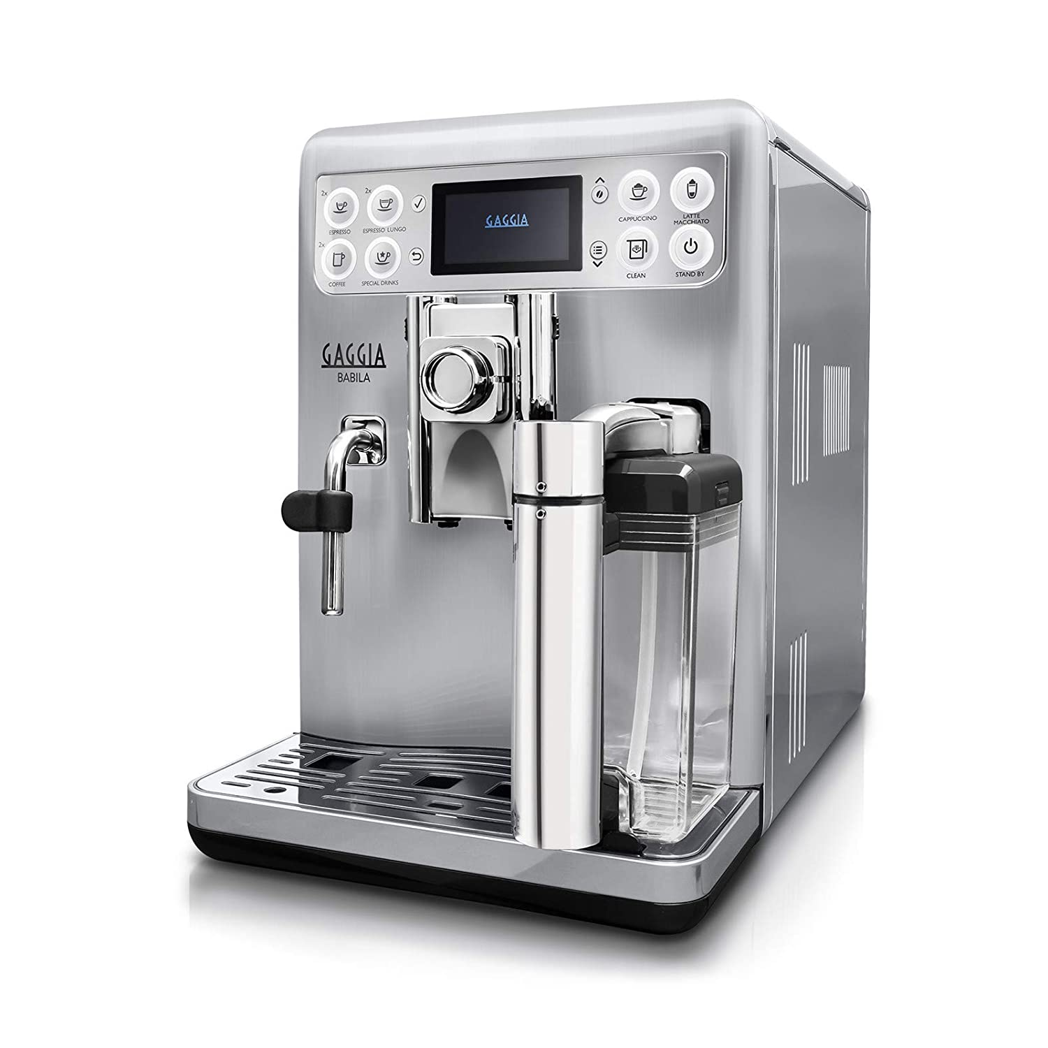 /Coffee Gaggia ri9700//60/Freestanding Fully Automatic Espresso Machine 1.5L Silver Freestanding, Espresso Machine, Silver, Stainless Steel, Cup, Stainless Steel, Touch Stainless Steel/