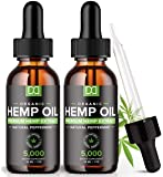 (2 Pack) 5000MG Hemp Oil for Pain Relief Anxiety Sleep Mood Stress 10000mg Total - Aceite de Cáñamo, l'huile de chanvre…