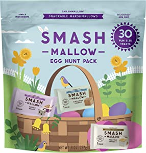 Easter Fun Size Variety Pack by SMASHMALLOW | Snackable Marshmallows | Assorted Flavors | Non-GMO | Organic Cane Sugar | 30 Individual Treats