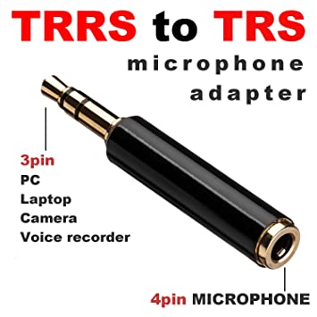 Amazon Com Lavalier Microphone Adapter 3 5mm Trs To Trrs