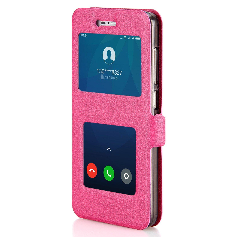 Funda Redmi Note 4X, Shanphone Funda folio Carcasa con Funcion de Ventana, Soporte plegable, Doble cierre magnético para Xiaomi Redmi Note 4X, Rosa