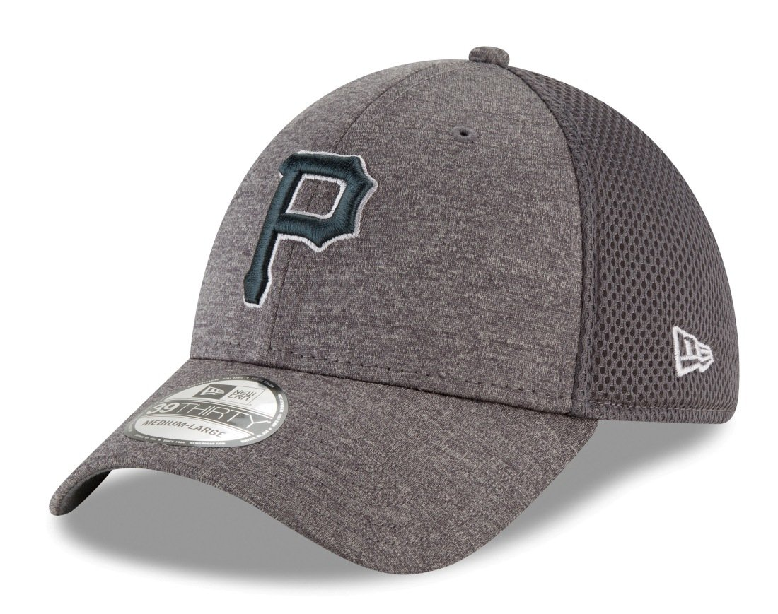 Amazon.com   Pittsburgh Pirates New Era MLB 39THIRTY Classic Shade Neo  Graphite Flex Fit Hat   Sports   Outdoors ea1d4388e4f0