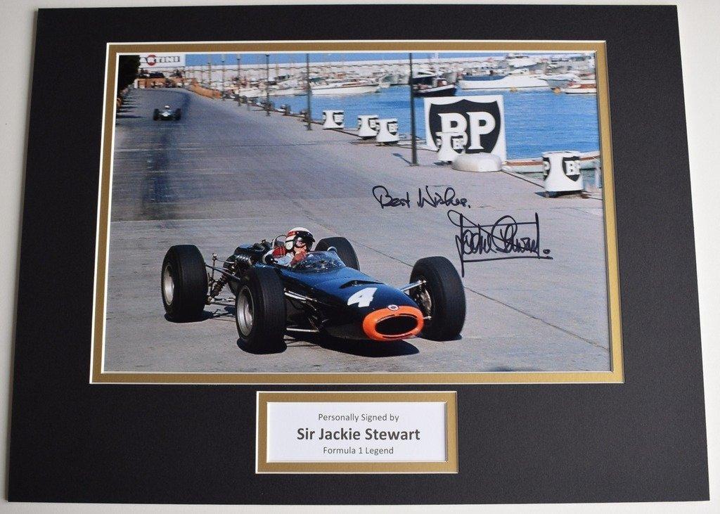 Sportagraphs Sir Jackie Stewart SIGNED autograph 16x12 photo display Formula 1 Racing COA PERFECT GIFT