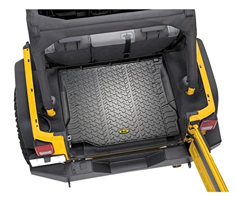 Bestop 51507 01 Cargo Liner Black 1 Pc. Rear Fits With Or With Out Factory Subwoofer Cargo Liner by Bestop