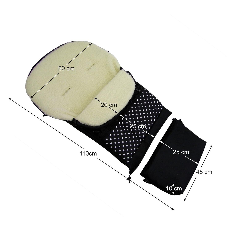 Schlitten und Buggys Fu/ßsack Wolle 110cm oder 85cm f/ür Kinderwagenschale Kinderwagen Rawstyle Winterfu/ßsack 3 in 1 aus LAMMWOLLE Beige