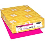 "Astrobrights Colored Cardstock, 8.5"" x 11"", 65 lb/176 gsm, Fireball Fuchsia, 250 Sheets (22881)"