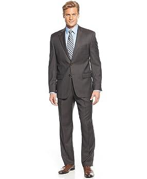 Ralph Lauren Brown Plaid Two Button Double Pleated New Men's Suit