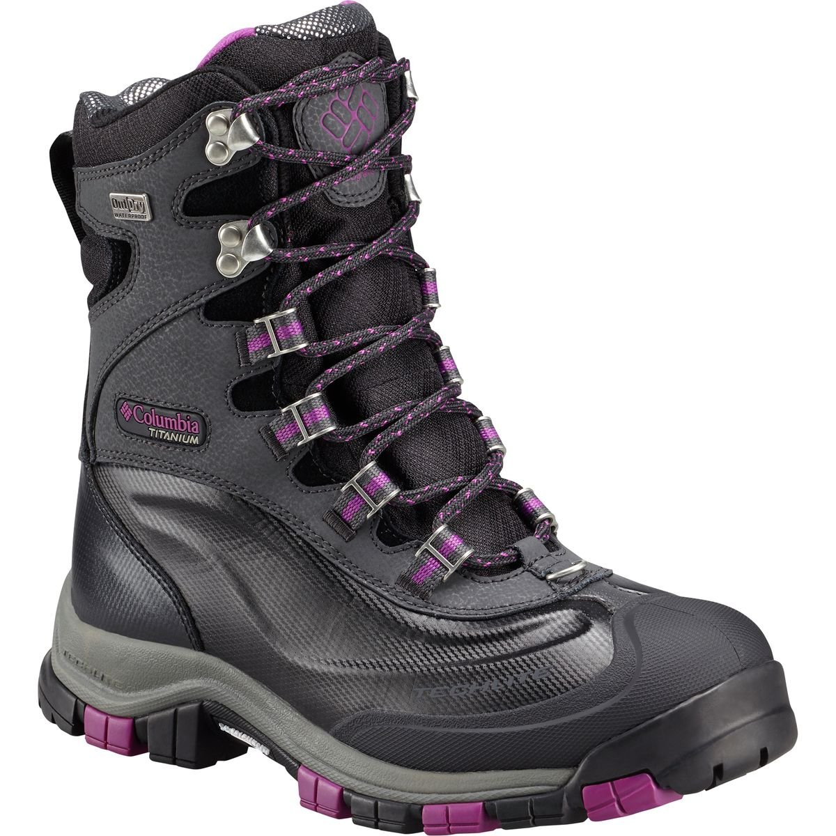 Columbia Women's Bugaboot Plus Titanium Omni-Heat Outdry Waterproof Winter Boot Blk/Violet 7 M US by Columbia