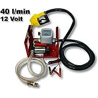 Bomba autocebante para Bio Diesel y gasóleo 12V/150W 40l/min con Pistola Maquinaria Calefacción