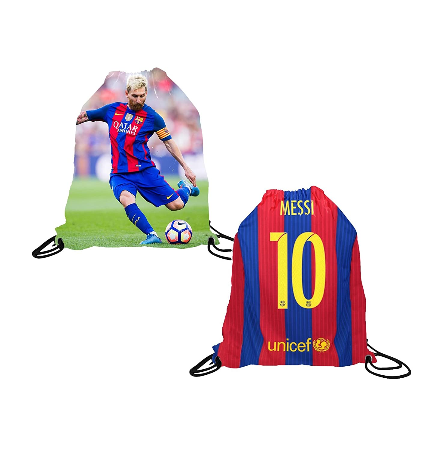 Messi Jersey Style T-shirt Kids Lionel Messi Jersey Picture T-shirt Gift Set Youth Sizes ✓ Premium Quality ✓ Lighteight Breathable ✓ Soccer Backpack Gift Packaging