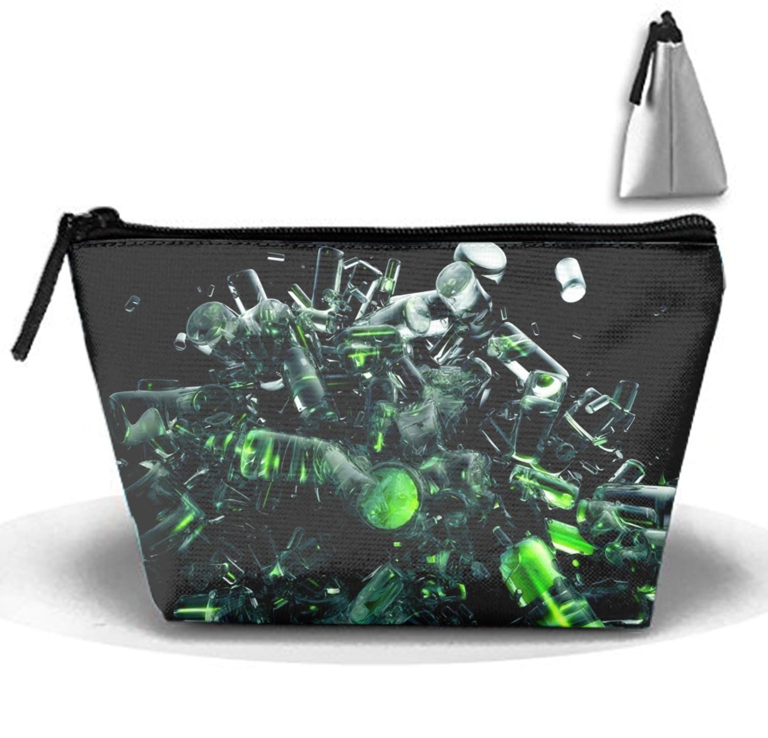 Amazon.com : Multi-functional Small Hand-Held Trapezoidal Strorege Bag Travel Cosmetic Bag (Cool Abstract) : Beauty