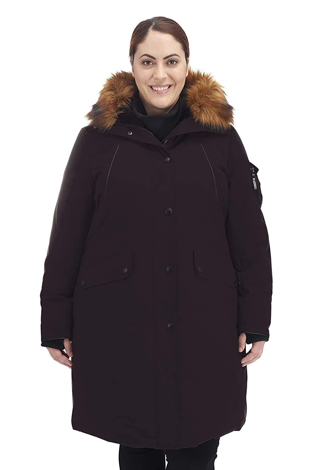 Image of Alpine North Women's Size Down Long Parka Plus Down & Down Alternative