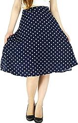 7e21eb93b813 YSJ Women's Polka Dot Chiffon Mini Skirt Chic Summer A Line Swing Skirts