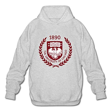 c536f6cc Men's The University Of Chicago 01 Long Sleeve Hooded Sweatshirt Ash at  Amazon Men's Clothing store: