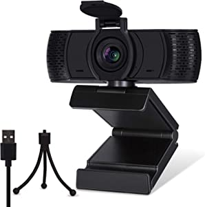 FutureCharger [Upgraded] Webcam with Microphone Privacy Cover and Tripod, 1080P HD Webcam, USB PC Webcam Streaming Desktop Laptop Computer Web Camera for Video Streaming, Conference, Gaming, Teaching
