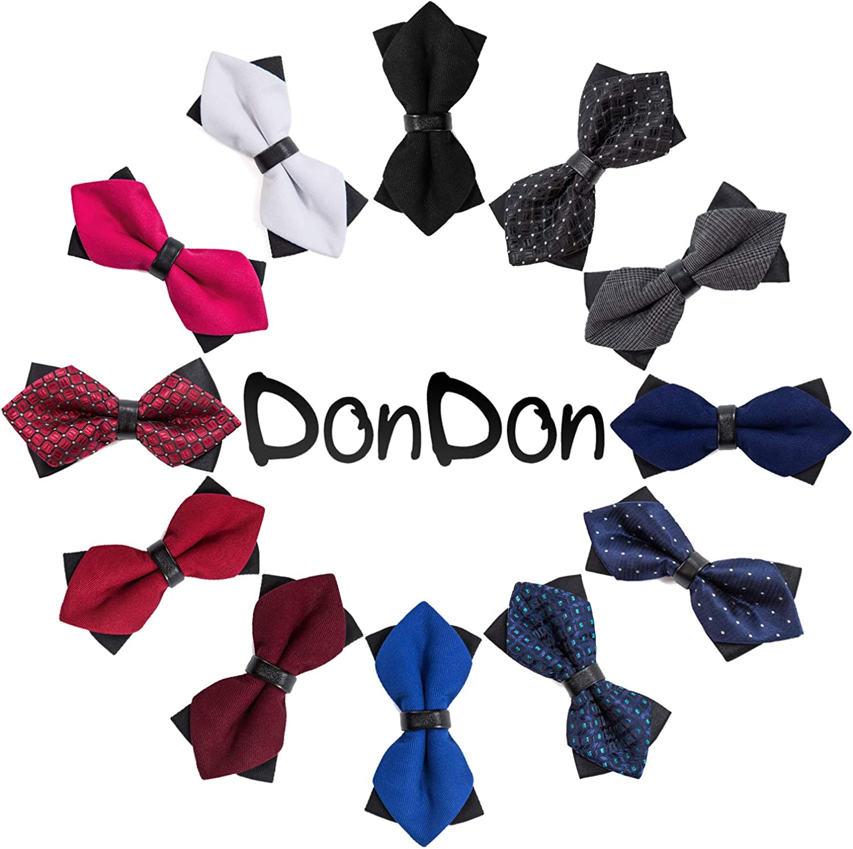 DonDon Papillon da uomo pizzo vintage con cinturino gi/à collegato e regolabile