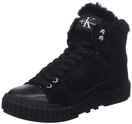 Calvin Klein Bolla Suede, Zapatillas Altas para Mujer: Amazon.es: Zapatos y complementos