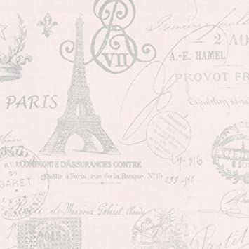 Pink French Script Fabric by the Yard Amazon com  Baby