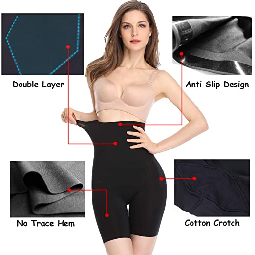 4ce8e4948b Slip Shorts for Women Under Dress Firm Control Shapewear Panties High Waist  Anti Chafing Boyshorts at Amazon Women s Clothing store