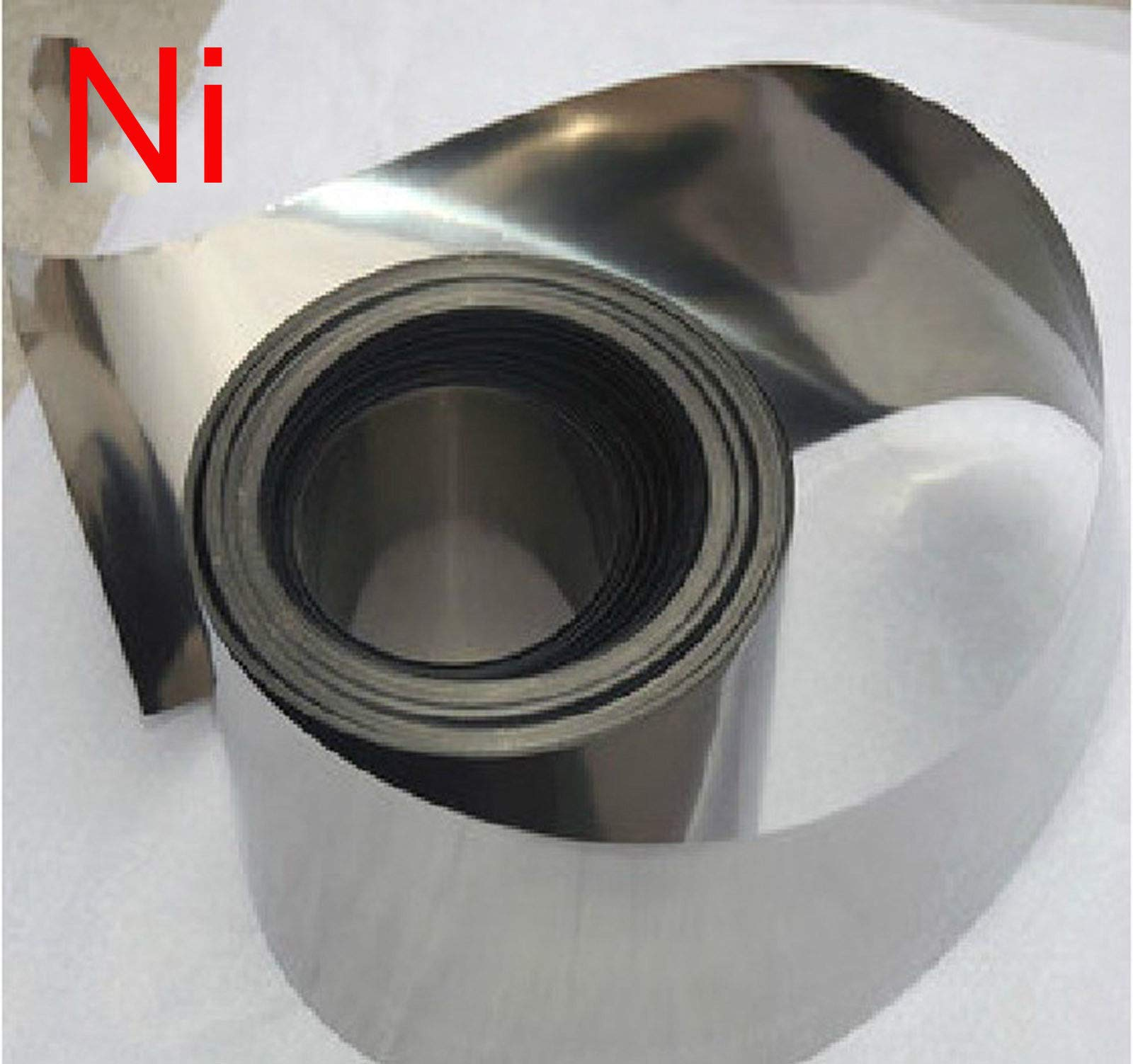 1PCS 99.96% Pure Nickel Ni Metal Foil Thin Sheet 0.1mm x 200mm x 500mm by Nickel