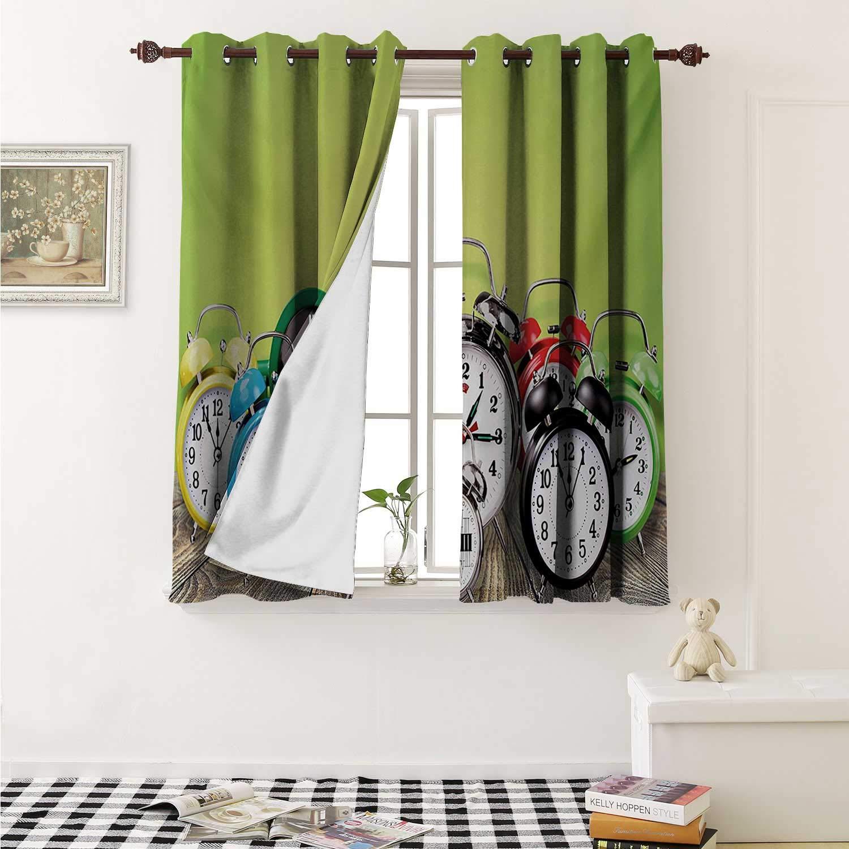 Amazon.com: Flyerer Clock Decor Curtains by A Group of Alarm ...