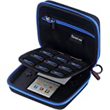 Smatree N98 Carrying Case Compatible for Nintendo 2DS Video Game Consoles-Black&Blue