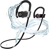 Bluetooth Headphones, ZamKol Wireless Sports Headphones IPX7 Waterproof Sports Earbuds w/Mic, HD Stereo in-Ear Earphones, 6-8 Hours Playback Noise Cancelling Headsets for Running, Cycling