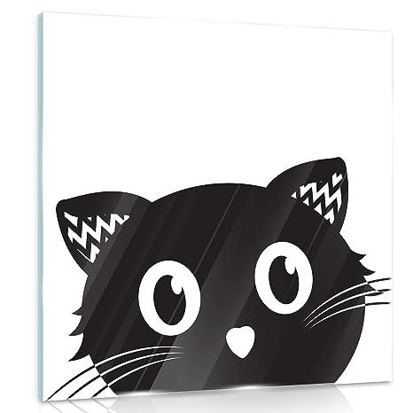 Delester Design Gt10996g4 Disegno Di Gatto Per Bambini Vetro 50 X 50