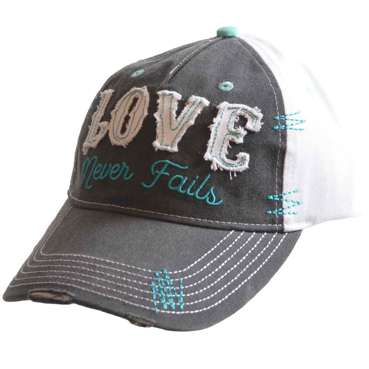 Love Never Fails Cherished Girl Christian Hat