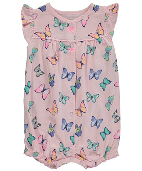 ca159f09e Amazon.com: Carter's Baby Girls Snap-Up Cotton Romper (Butterfly): Clothing