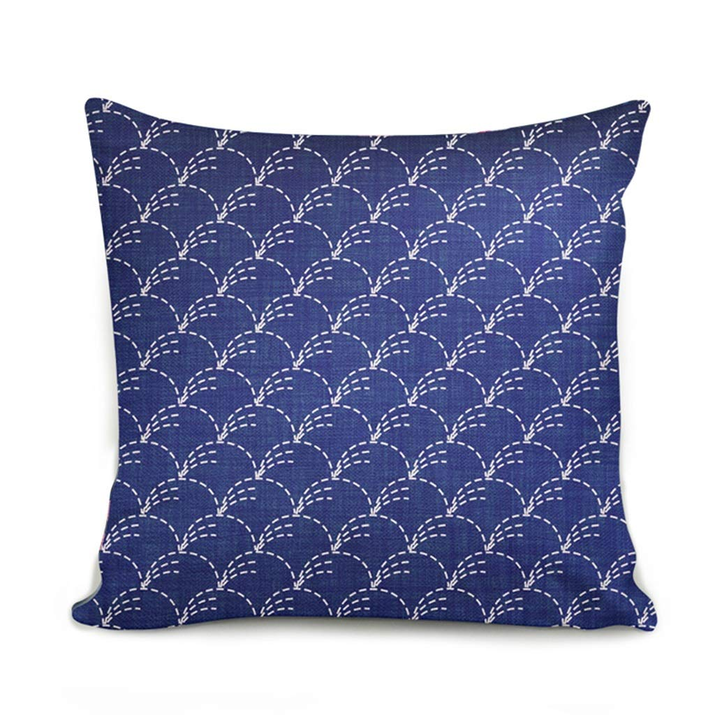 ZDNALS Square Pillow, Cartoon Printed Sofa Pillow Cushion 43cm × 43cm Pillow (Pattern : D) by ZDNALS