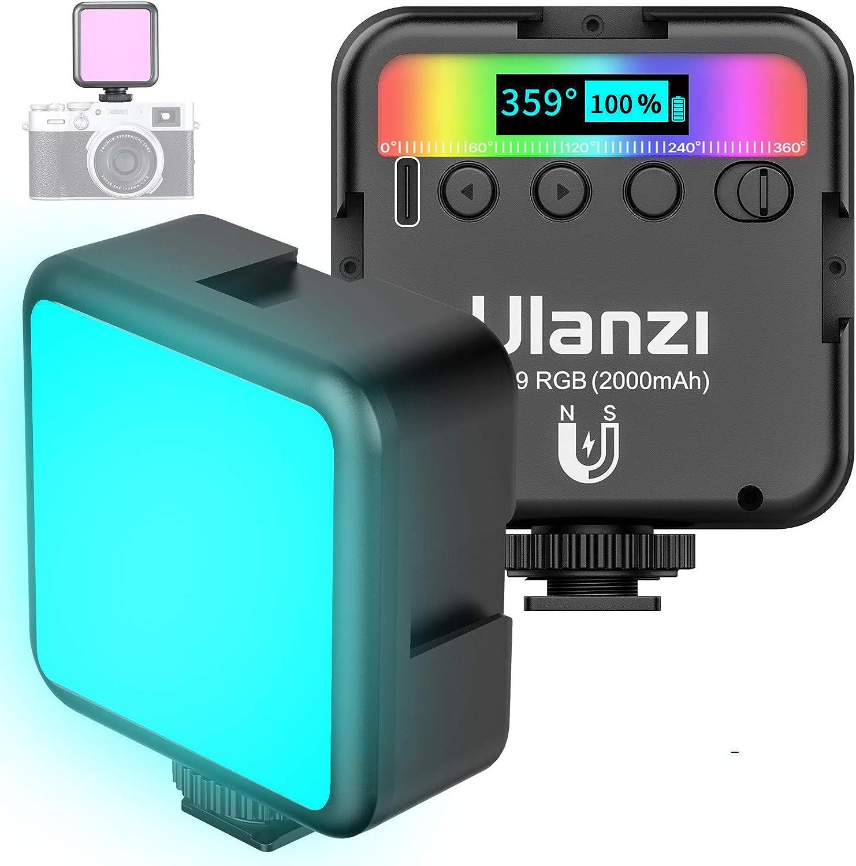 Led Videoleuchte Rgb Mit Eingebautem Akku Mini Kamera
