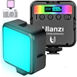 ULANZI VL49 RGB Video Light w 3 Cold Shoes,Mini Rechargeable LED Camera Light 360° Full Color,Support Magnetic Attraction Por
