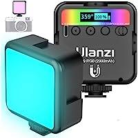 Lampa wideo LED RGB z wbudowanym akumulatorem, mini przyciemniane światło wideo 2500K-9000K, światło ciągłe, mała…