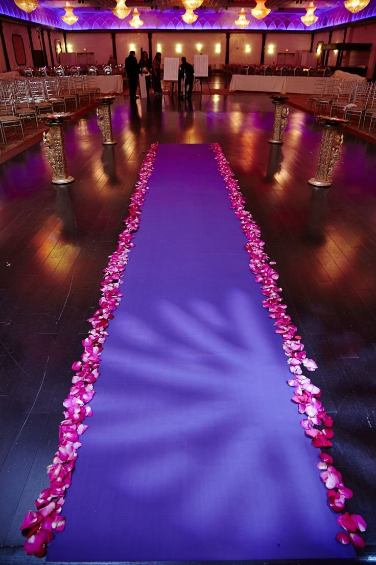 Bridal Satin Aisle Runner 75Ft long x 5Ft wide - wedding, red carpet events - seamless (Magenta) by Linen Superstore