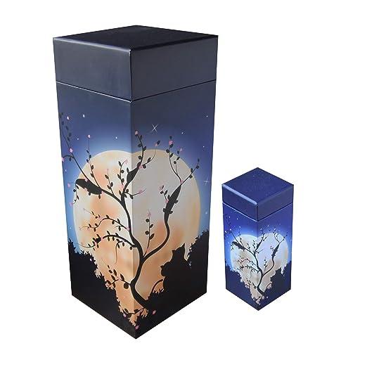 ScatterPod Urna de cremación para Gatos con luz de Luna - Paquete ...