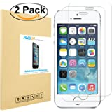 iPhone SE Screen Protector [2-Pack], PLESON [3D Touch Compatible] iPhone SE Tempered Glass Screen Protector [0.2mm][Updated Version]Case Friendly screen protector for iPhone SE,5,5S