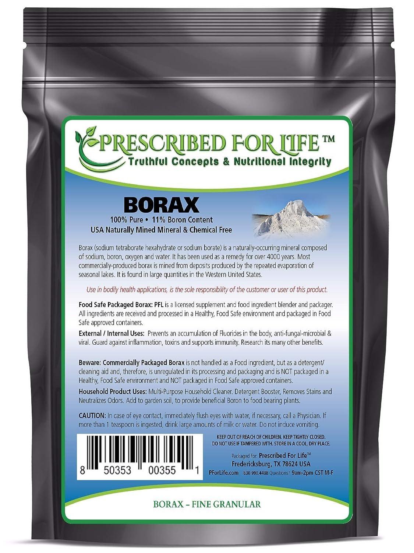 Borax - All Natural Sodium Borate 10 MOL Mineral Powder, 16 Ounce