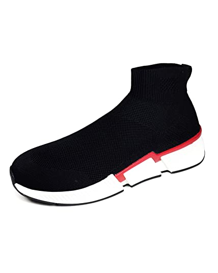 a4c61d9acb29 Zara Men s Sock-Style high-top Sneakers 5105 302 Black  Amazon.co.uk ...