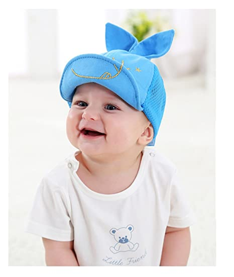 85508bfc2a4 Onlineb2c Kids Newborn Toddler Baby Summer Breathable Caps Girl Boy  Snapback Cap Dots Little Ear Hats