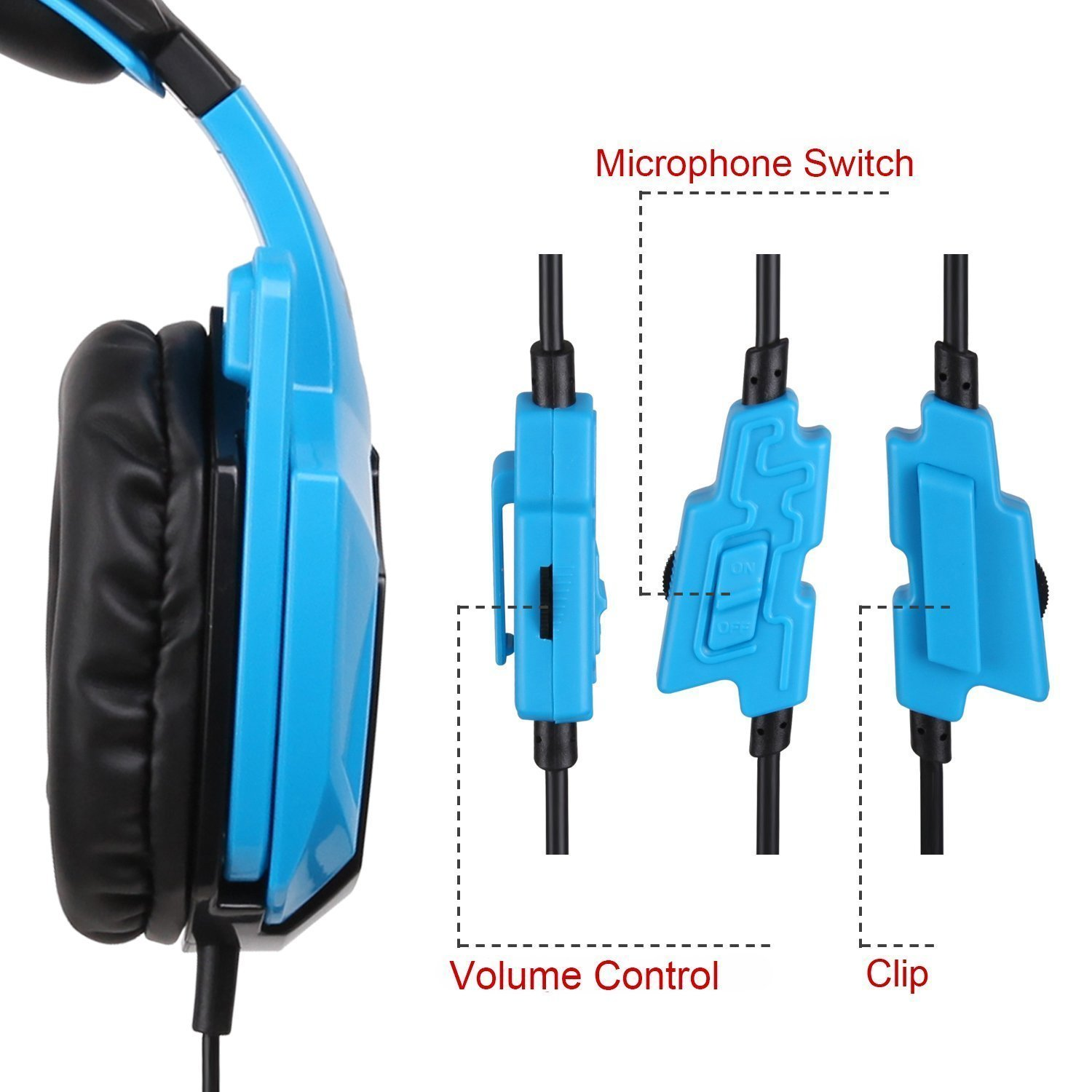 71tre7ZrcNL._SL1500_ amazon com sades 5 in 1 stereo gaming headset (sa920) blue Headphone with Mic Wiring Diagram at creativeand.co